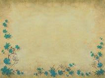 Blue blossom flower half border light background Stock Photos