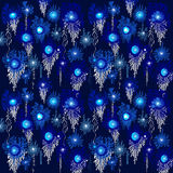 Blue blossom seamless pattern Royalty Free Stock Photos