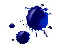 Blue blot. Isolated on white Royalty Free Stock Images