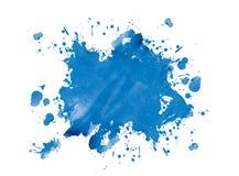 Blue blot. On white, illustration Stock Image