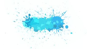 Blue blot on alpha channel. Blot drips onto a transparent background and spreads over it. Great background for your text or decoration design of your video stock illustration