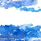 Blue blot frame. Stock Images
