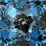 Blue blots bright abstract background vector illustration Stock Images