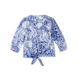 Blue Blouse Isolated on White. Cotton blue blouse isolated stock photo