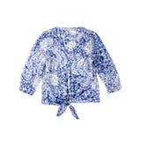 Blue Blouse Isolated on White Stock Photo
