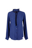 Blue blouse with rhinestones Stock Images