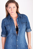 Blue blouse Royalty Free Stock Photo