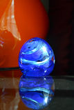 Blue Blown Glass Paperweight Royalty Free Stock Photo