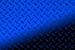 Blue and blue Diamond plate Royalty Free Stock Image