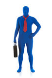 Blue: Blue Man as Businessman Royalty Free Stock Photography