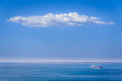Blue in blue, marine scene Royalty Free Stock Images