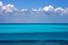 Blue and blue in the sea Royalty Free Stock Photos