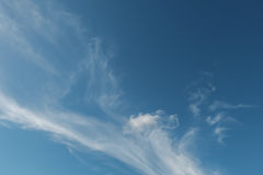 Blue. Sky with white cloud Royalty Free Stock Photography