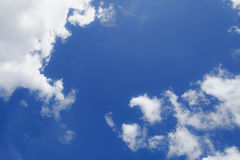 Blue. Sky with white cloud for product display Stock Photo