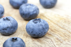 Blue blueberries closeup Royalty Free Stock Photo