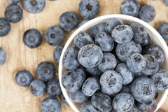Blue blueberries closeup Royalty Free Stock Photos