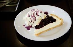 Blue blueberry cheesecake Stock Image