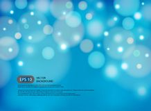 Blue blur abstract background with light in modern illustration. Vector Royalty Free Stock Photos