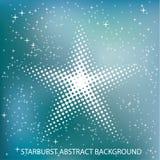 Blue blur dot starburst Royalty Free Stock Image