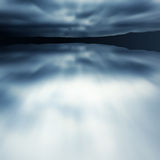 Blue blur lake Royalty Free Stock Photo