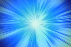 Blue blur power zooming effect illustration stock illustration