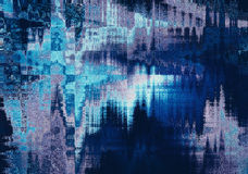 Blue blurred abstract background texture with horizontal stripes Royalty Free Stock Images