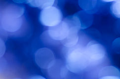Blue blurred bokeh  background Royalty Free Stock Photo