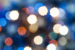 Blue blurred Christmas lights from soft filter Royalty Free Stock Photos