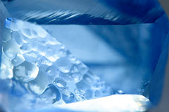 Blue blurred crystal texture Royalty Free Stock Photo