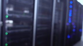 Blue Blurred Data Center Concept 2. contains noise.