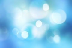 Blue blurred defocused bokeh background. Royalty Free Stock Photos