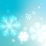 Blue blurred frosty background Stock Image