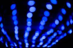Blue blurred lights Stock Photo