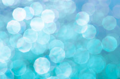 Blue blurred lights bokeh background Royalty Free Stock Image