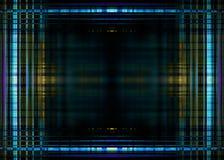 Blue lights border on black. Blue blurred lights border frame on a black background stock illustration