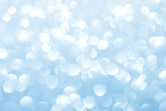 Blue blurred lights. Glittering abstract background Stock Photo