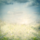 Blue blurred nature background with sky Stock Photo