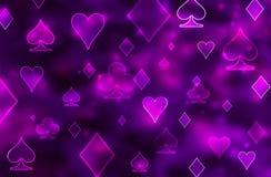 Blue blurred poker casino background. Raster illustration vector illustration