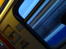 Blue blurry Skyte - Roland in Vancouver (375) royalty free stock photography