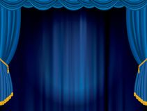 Blue blurry spot Royalty Free Stock Image