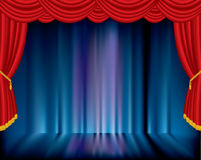 Blue blurry stage Royalty Free Stock Photography