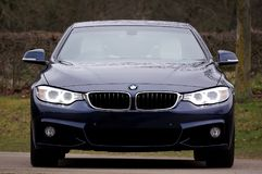 Blue Bmw 4-series Stock Photography