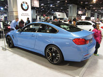 Blue BMW Sports Coupe Royalty Free Stock Photography