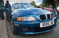 Blue BMW Z3 Royalty Free Stock Photos
