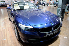 Blue BMW Z4 sDrive35is Royalty Free Stock Image