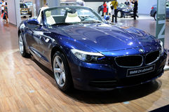 Blue BMW Z4 sDrive35is Royalty Free Stock Photos