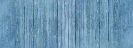 Blue board wall panorama Stock Image
