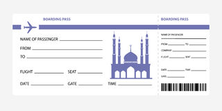 Blue boarding pass Royalty Free Stock Photo
