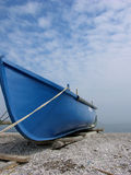 Blue Boat. And A Blue Sky stock photography