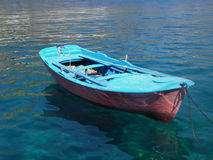 Blue boat Royalty Free Stock Photo